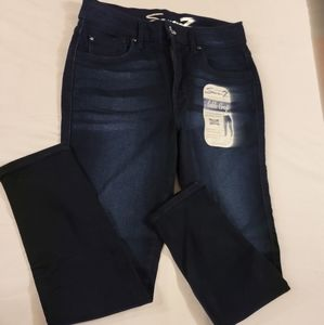 Seven7 ankle crop skinny super soft jeans NWT 8